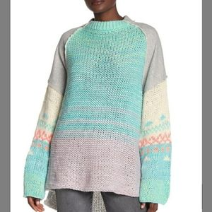 Free People Polar Opposites Sweater XS NWT